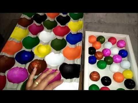 DIY game for kids || Thermocol Color Ball Match