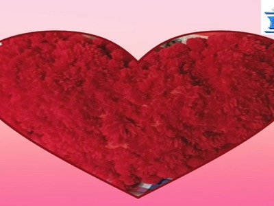 DIY Heart Shaped Pillow I Best Gift to Your Spouse. Valentine I EZ SuperCraft (Slideshow)