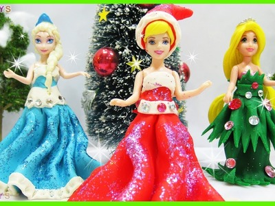 DIY. How To Make Play Doh Dresses for Disney Princess. Surprise Toys with Thomas