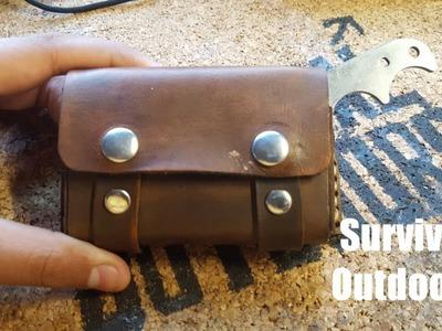 DIY | Leather Altoids Fire Kit Pouch