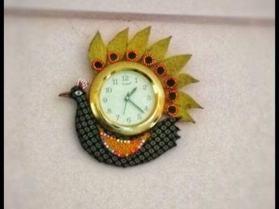 DIY PEACOCK WALL CLOCK | DIY WALL CLOCK DECORATION IDEAS | Nikki Srivastava