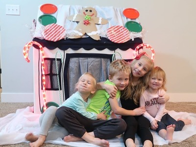 DIY REAL LIFE GIANT GINGERBREAD HOUSE! ||Petite Maison Kids Play House