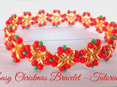 Easy Christmas Bracelet - Tutorial for beginners