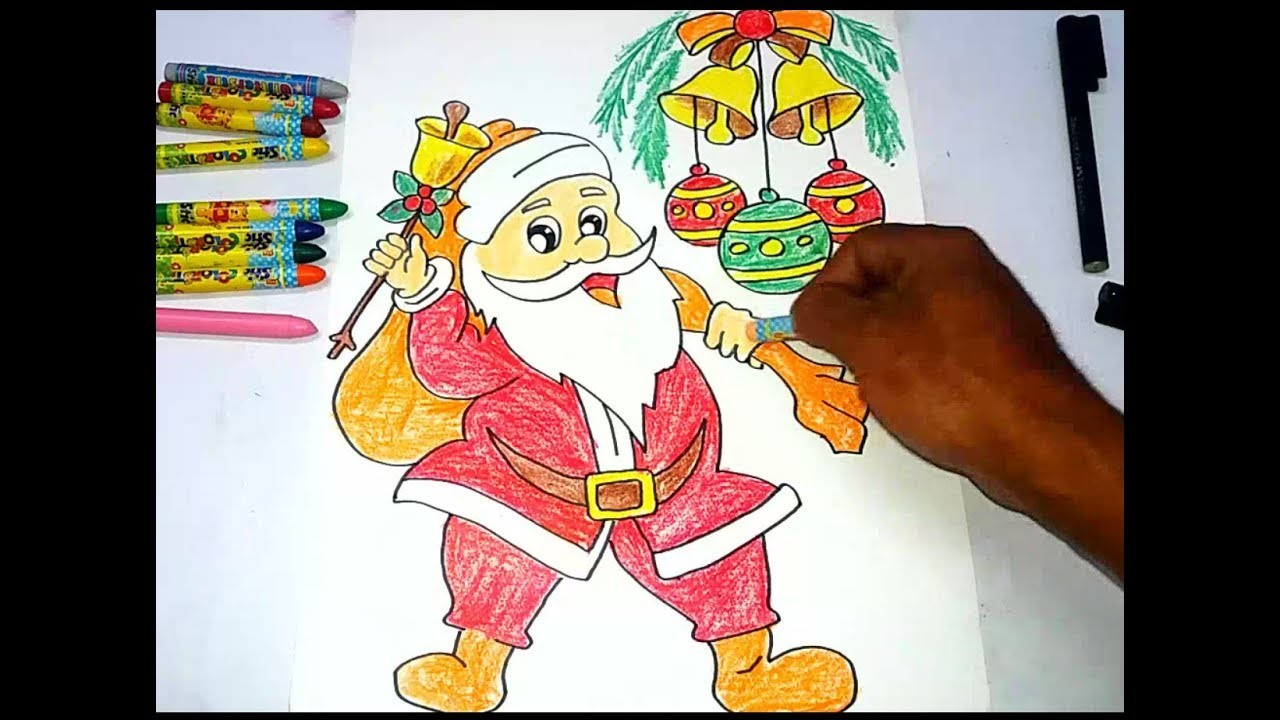 Easy Drawing Santa Claus For Kids