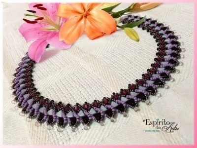 Évora necklace with kheops, bicones and mini drops - Beading Tutorial