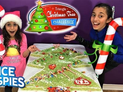 Giant RICE KRISPIES CHRISTMAS TREE!! DIY kids fun challenge