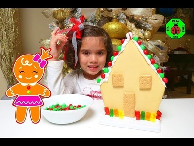 ????GINGERBREAD HOUSE DIY M&M'S Chocolate Candies, Peppermint Swirl and Gummies!