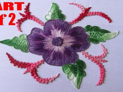 Hand Embroidery | Long Stitch and Short Stitch | Hand Embroidery Designs #19 Part-1 of 2
