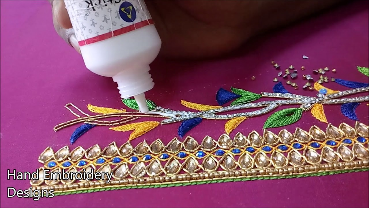 Hand embroidery small flowers | hand embroidery stitches for flowers | hand embroidery designs