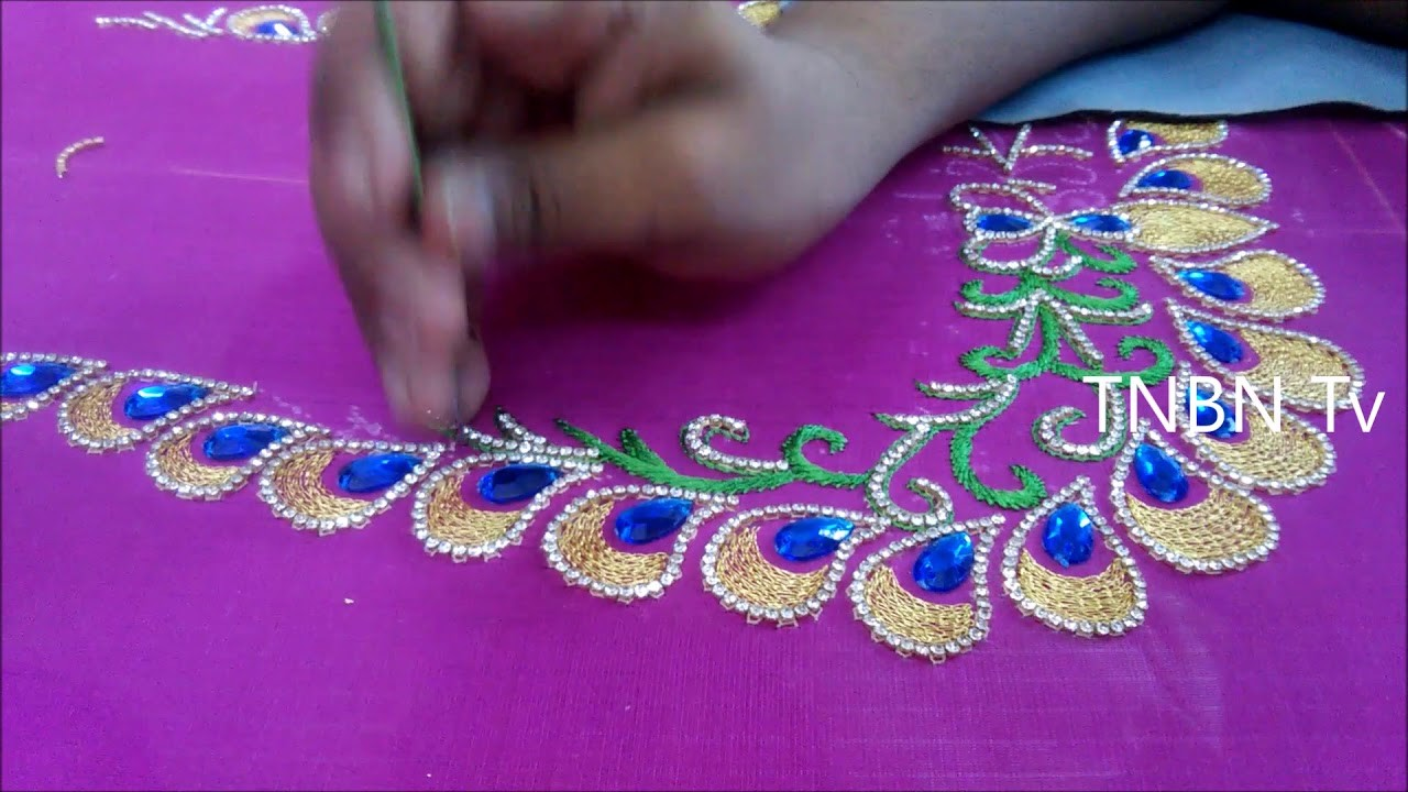 Hand embroidery stitches tutorial for beginners aari work