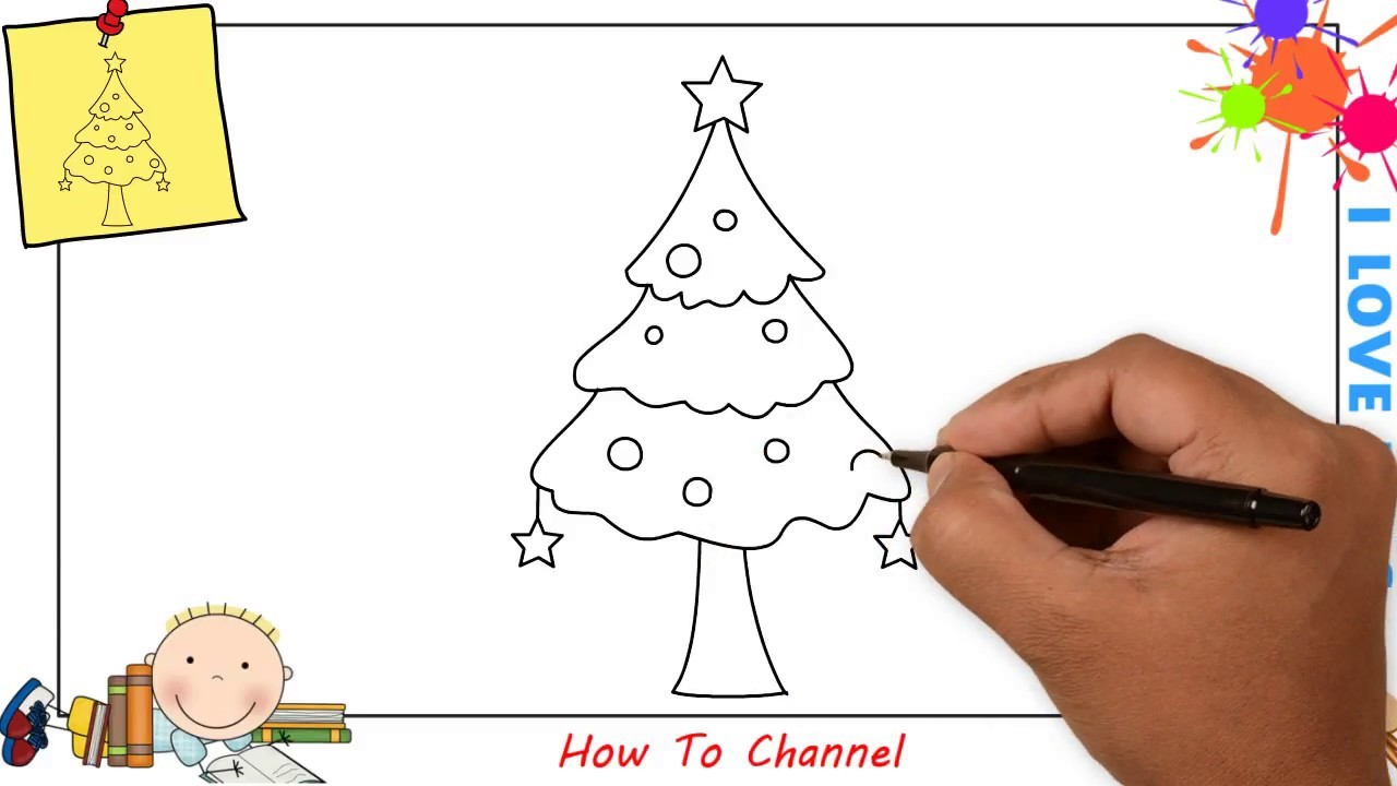 How to draw a tree for beginners
