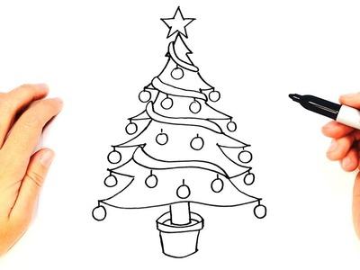 how to draw a christmas tree christmas tree easy draw