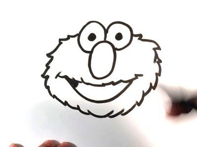 How to Draw Elmo from Sesame Street - Easy Pictures to Draw