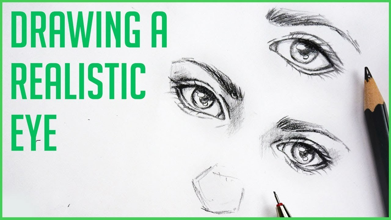 How To Draw Realistic Eyes Easy Art Drawing Tutorial For Beginners