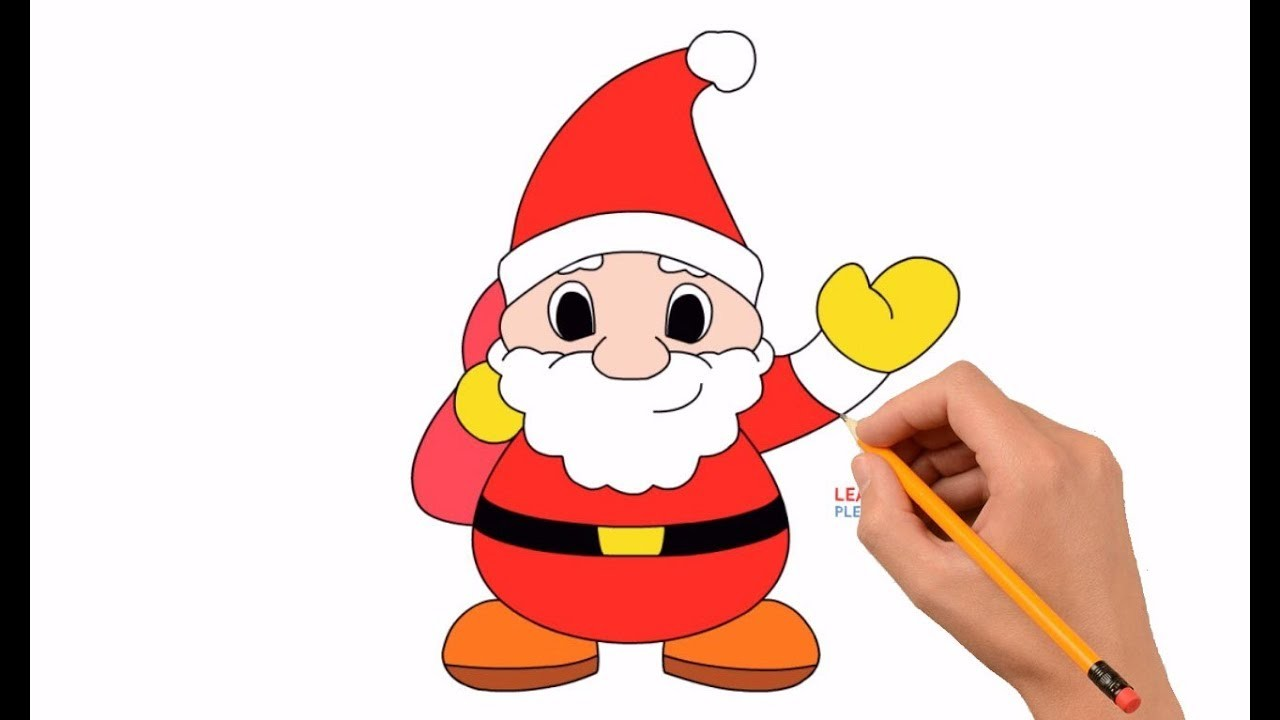 How To Draw Santa Claus Step By Step Easy For Kids