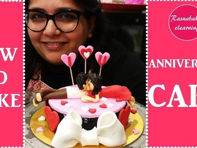 How to make anniversary cake : Cake Decorating tutorial