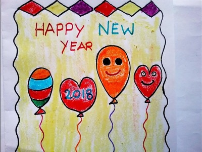 How to make Happy New Year card,DIY greeting cards making ideas,Greeting card made out paper,easy di