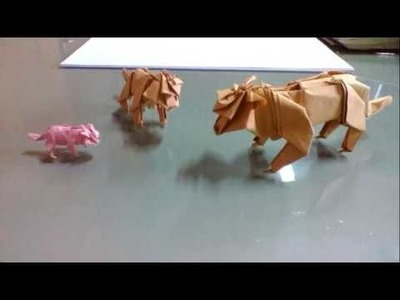 How to make origami tiger part 2