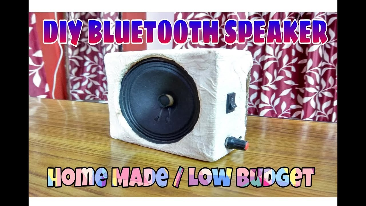 How to make small Bluetooth speaker at home. DIY