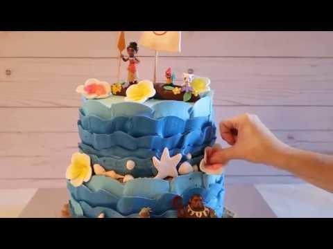 Moana Cake Theme Party Disney Princess Cakes Ideas DIY How To