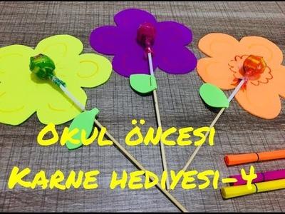 Okul Öncesi Karne Hediyesi Yapımı -4????. how to make funny gifts (diy) for children.pre school