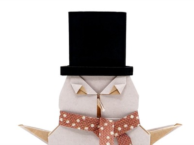 ORIGAMI TOP HAT FOR THE SNOWMAN ???? (Jo Nakashima)