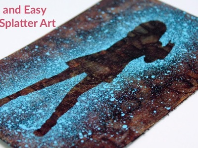 Quick and Easy Paint Splatter Art - Hippy Chic