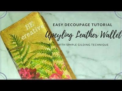 Studio Decoupage Tutorial Easy Decoupage Gilding on Leather Wallet