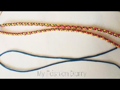 Two typs of dori ( thin dori & multi coloured  dori)   DIY