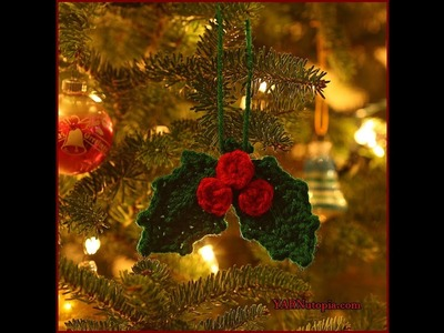 12 Days of Christmas: Holly and Berries Ornament