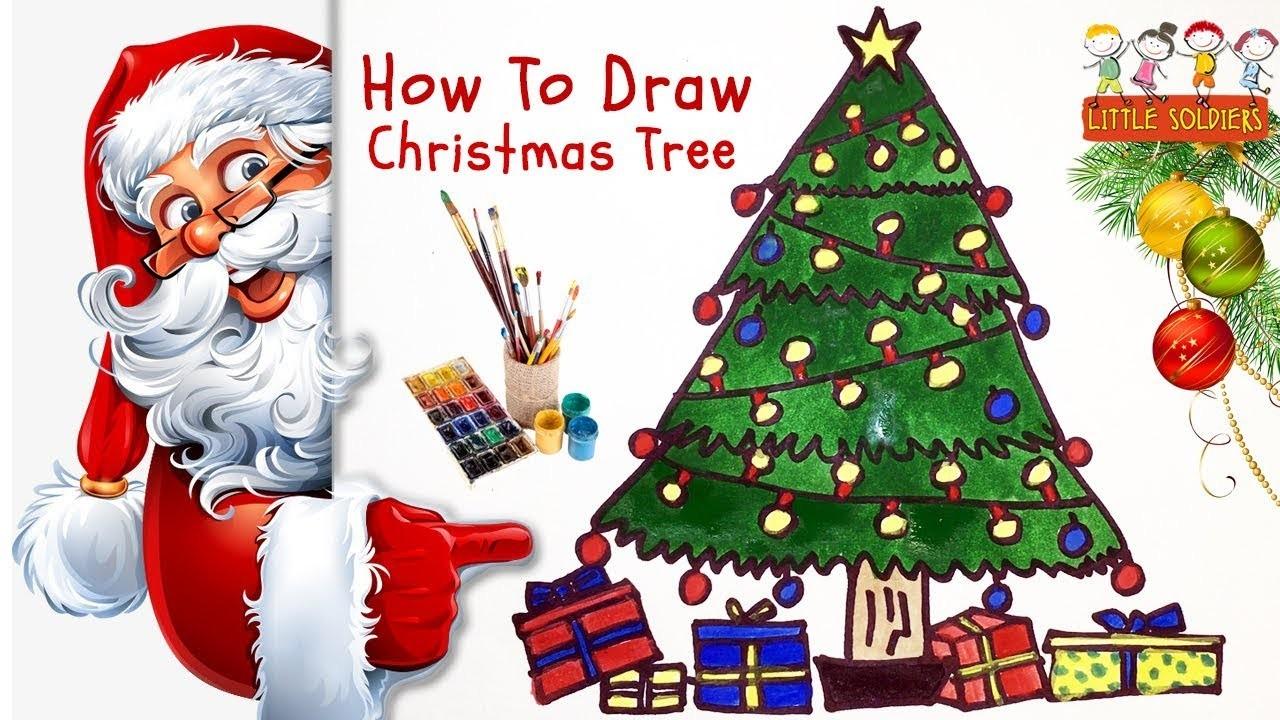 2017 Christmas Tree For Children, How to Draw ChristmasTree ...