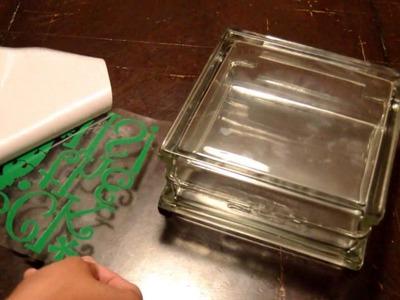 25 Days of Christmas: Day 2 -  Christmas Glass Block
