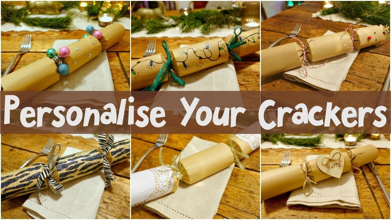 6 Easy ways to decorate your own Christmas Crackers