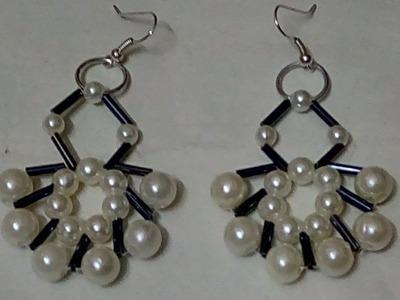 #87 How to Make Pearl Beaded Bugle Earring || Diy || Jewellery Making