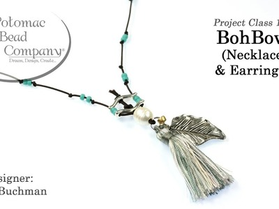 BohBow Necklace & Earrings (Tutorial)