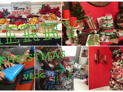 Christmas 17'~ Table & Buffetscape and Gift Opening| Vlog Style