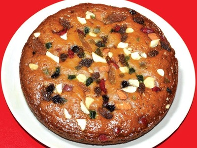 Christmas Cake Recipe - Fruit Cake Recipe In Pressure Cooker Without Egg Without Oven - Plum Cake