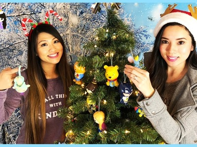 Christmas Tree Decorating with Marvel and Disney Ornaments - Princess ToysReview