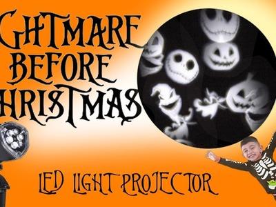 Disney's Nightmare Before Christmas LED Light Projector Jack Skellington Zero Oogie Boogie