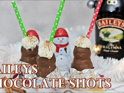 DIY CHOCOLATE SHOT GLASSES WITH BAILEYS