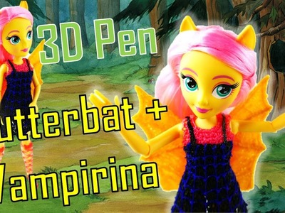 DIY Flutterbat Vampirina Fluttershy Custom Doll Dress with 3D Pen for Kids