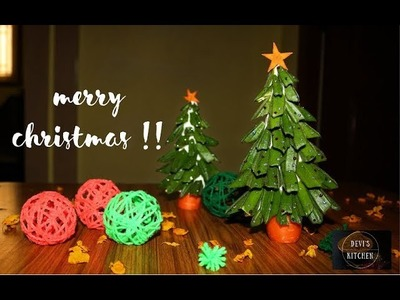 Easy Christmas tree using vegetables || Carrots and Ladyfingers || Devee kitchen