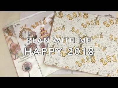 Happy 2018 - Happy Planner Plan with Me (January 2018)