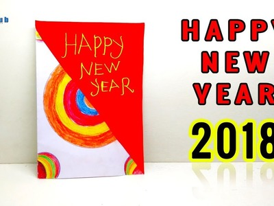 Happy New Year Card 2018 | New Year Gift Card 2018 | Best New Year Card | Lina's Craft Club
