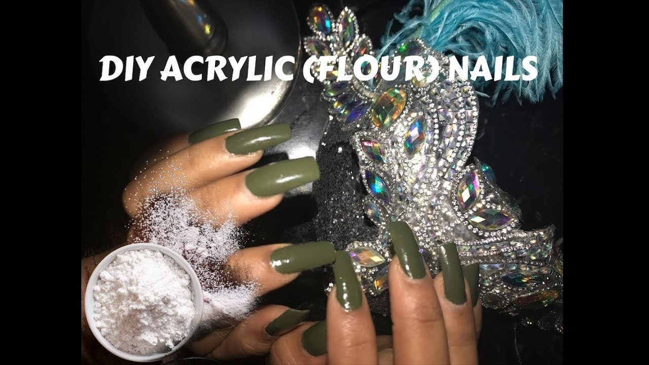 HOW TO: BOUGIE ON A BUDGET! DIY At Home Acrylic-esque Nails Using FLOUR!