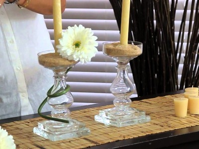 How to Decorate a Crystal Candelabra Centerpiece : Decorations for the House