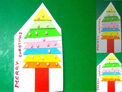 "HOW TO DRAW VERY SIMPLE ""CHRISTMAS CARD"" FOR KIDS"