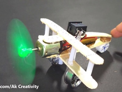 How to Make a Aeroplane With 5v DC Motor | DIY Wooden Plane
