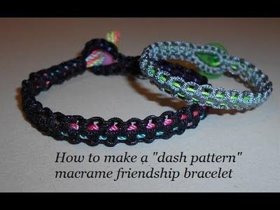How to Make a Dash Pattern Macrame Bracelet