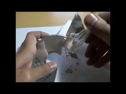 How to recycle CD.DVD to a clear plastic disc for reuse.